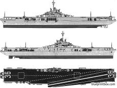 usn cv 36 antietam 1956 aircraft carrier