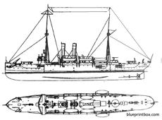 uss c 19 cleveland protected cruiser 2