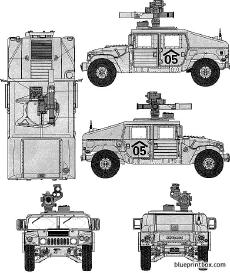 am general m1046 humvee tow missile carrier