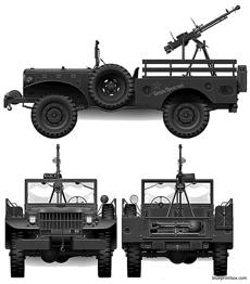dodge wc52 075 ton 4x4 weapons carrier 1943