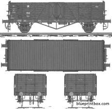 high freight wagon biaxial type 2
