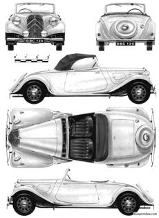 citroen 11cv legre traction avante roadster light 15 1939