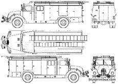 magirus deutz f mercur 125 fire truck 1956