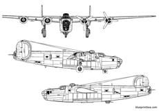 consolidated b 24d liberator