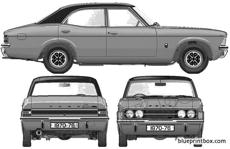 ford e cortina mkiii glx 2000 4 door 1976
