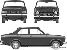 ford e escort mki 4 door 1971