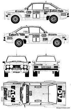 ford e escort mkii rs1800 rallye