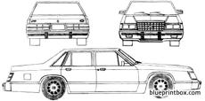 ford ltd ii 4 door sedan 1983
