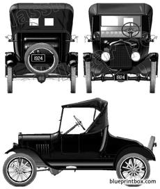 ford model t runabout 1924