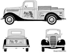 ford pick up 1937 2
