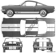 ford shelby mustang gt 350h 1966