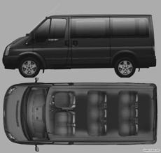 ford tourneo glx 9 seat