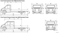 ford transit chassic cab lwb extended frame 2008