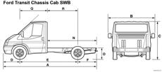 ford transit chassic cab swb 2008