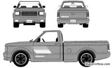 gmc syclone pick up 1991 2