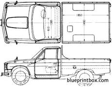 Blueprintbox free plans and blueprints of cars trailers hino briska 1300 1965 malvernweather Images