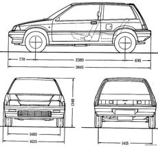 honda civic hatchback gl 1987
