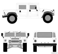 hummer 4 passenger hard top