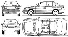 hyundai accent 4 door 1994