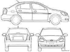 hyundai accent 4 door 2008