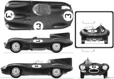 jaguar d type 1954 55 lemans